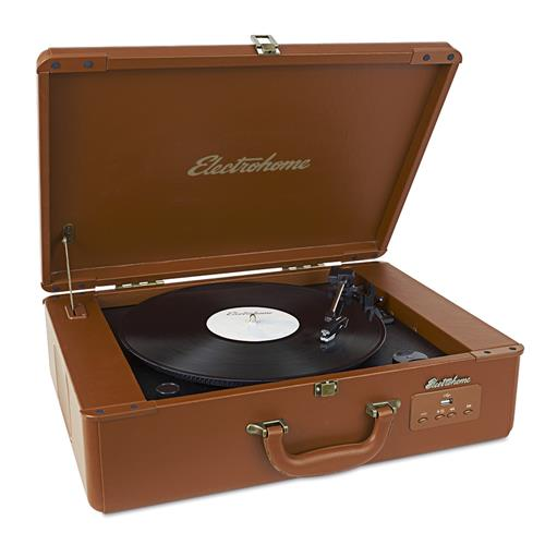 Electrohome Vinyl Record Player Classic Turntable with Built-in Speakers, USB for MP3s, Headphone Jack, & AUX Input