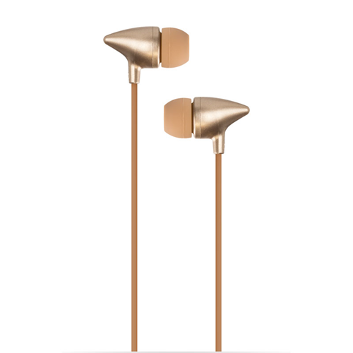 Caseco Sono Universal In- Ear headphones with Sleek Design, Mic and Volume control ? Gold