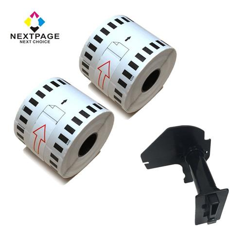 Twin Pack Nextpage continous label rolls compatible for Brother DK-2205 with one reusable cartridge use with QL-500 QL-550