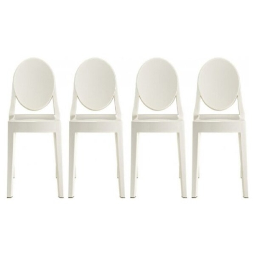4 Philippe Starck Louis XVI Ghost Side Chair Modern Victoria Dining Chair  Plastic In White : Dining Chairs   Best Buy Canada