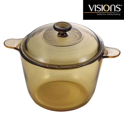 Visions Glass Cookpot Vs3 1 2 3 5l With Glass Cover Stock Soup