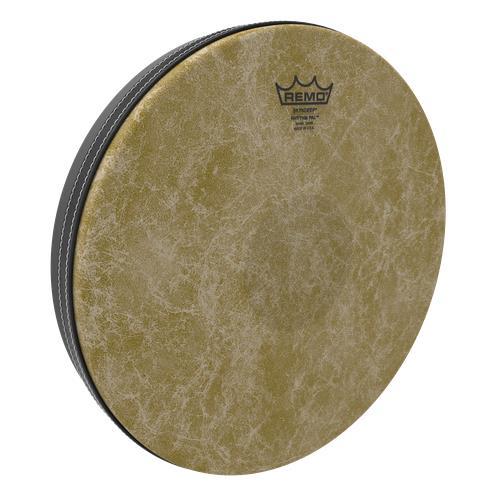 """Remo Rhythm Lid Skyndeep Drumhead - Beige Fiberskyn Graphic, 13"""", Medium"""