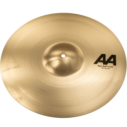 "Sabian AA Raw Bell Crash Cymbal - 16"", Brilliant"