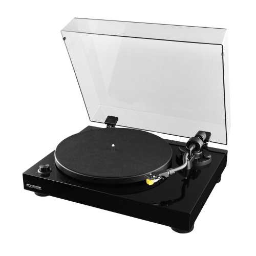 Fluance RT80 High Fidelity Vinyl Turntable Record Player with Premium Cartridge, Diamond Stylus, Preamp, Wood Cabinet