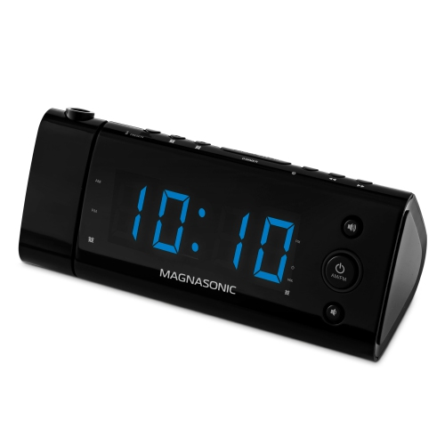 Electrohome Usb Charging Led Alarm Clock Radio With Time