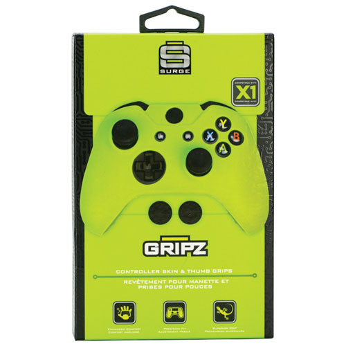 Surge Gripz Controller Skin & Thumb Grips for Xbox One - Green