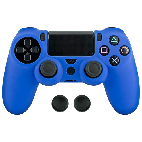 Surge Gripz Controller Skin & Thumb Grips for PS4 - Blue
