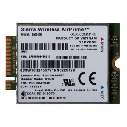 Lenovo Sierra Wireless ThinkPad EM7455 4G LTE Mobile Broadband