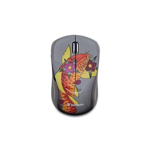 Verbatim Wireless Notebook Multi-Trac Blue LED Mouse, Tattoo Series