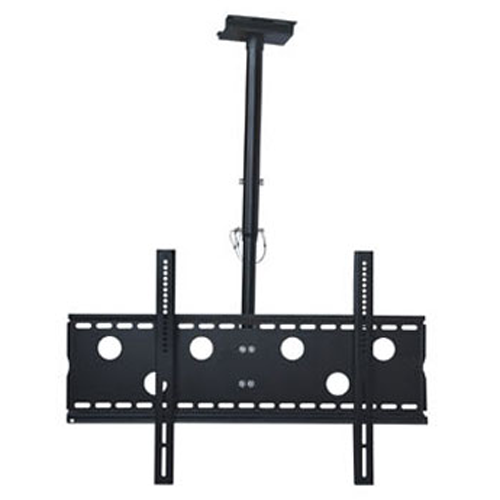 """GlobalTone Ceiling TV Mount for Flat Screen LED LCD Plasma Televisions 42"""" to 70"""" Black"""