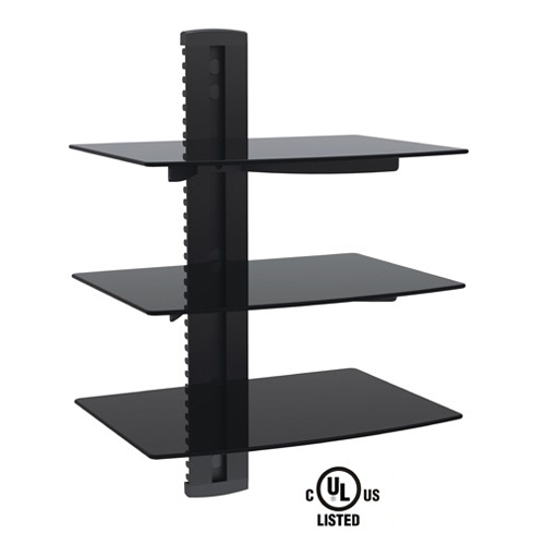 GlobalTone Triple Floating Media DVD shelves for receiver, cable ...