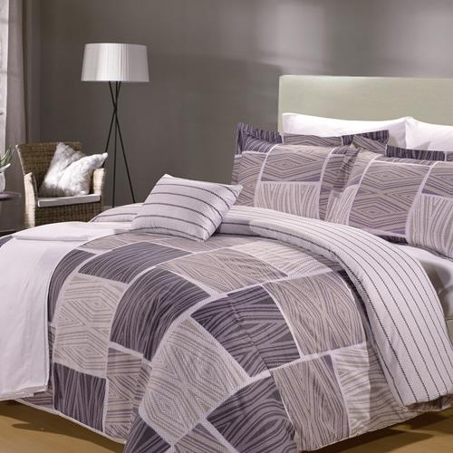 North Home Zigzag 8-piece Duvet Cover (King)