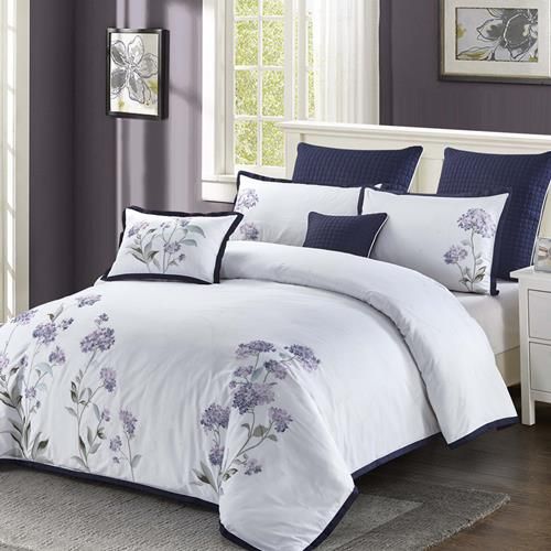North Home Hydrangea 7-pc. Duvet Cover Set (King)