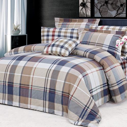 North Home Cambridge 100% Cotton 4 PC Duvet Cover Set (Twin)