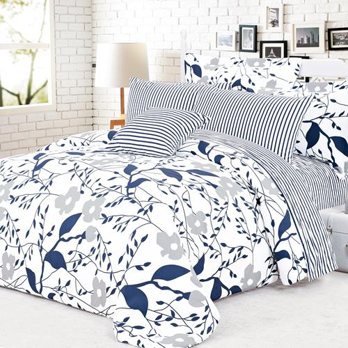 North Home Cynthia 100% Cotton 4 PC Duvet Cover Set(Twin)