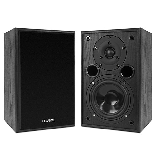 Fluance AV5 Powerful & Dynamic Two-way Bookshelf Speakers for Home Theater & Music Systems