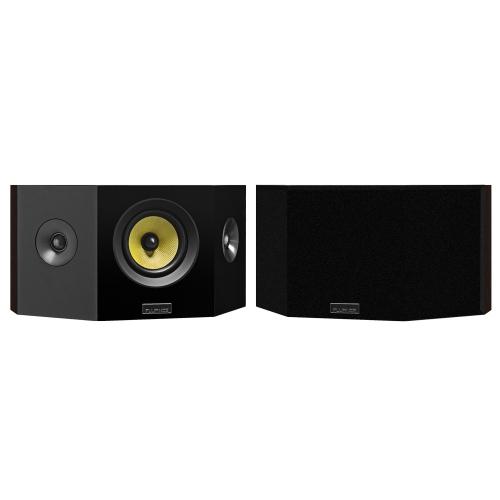 Fluance Signature Series Hi-Fi Bipolar Surround Sound Wide Dispersion Speakers (Natural Walnut)