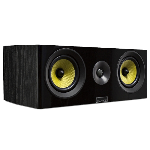 Fluance Signature Series HiFi Two-way Center Channel Speaker for Home Theater (Black Ash)