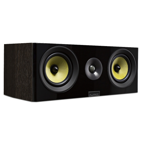 Fluance Signature Series HiFi Two-way Center Channel Speaker for Home Theater (Natural Walnut)
