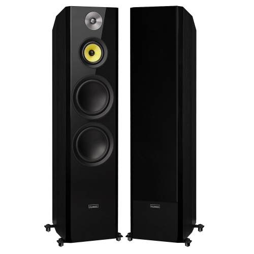"Fluance Signature Series Hi-Fi Three-way Floorstanding Tower Speakers with Dual 8"" Woofers (Black Ash)"
