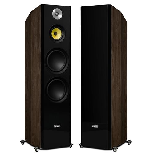 "Fluance Signature Series Hi-Fi Three-way Floorstanding Tower Speakers with Dual 8"" Woofers (Natural Walnut)"