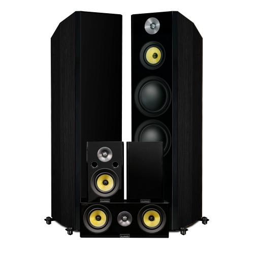 Fluance Signature Series Hi-Fi 5.0 Surround Sound Home Theater Speaker System - Floorstanding Towers, Center & Rears