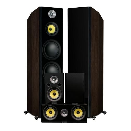 Fluance Signature Series Hi-Fi 5.0 Surround Sound Home Theater Speaker System - Floorstanding Towers, Center & Rears