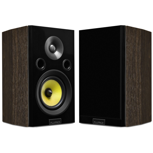 Fluance Signature Series HiFi Two-way Bookshelf Surround Sound Speakers for Home Theater and Music Systems (Natural Walnut)