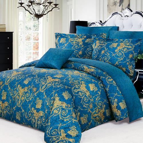 North Home Elizabeth 100% Cotton 4 PC Duvet Cover Set(King)