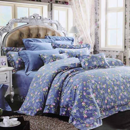 North Home Rosedale 100% Cotton 4 PC Duvet Cover Set(Queen)
