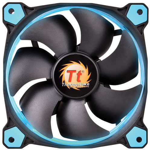 Thermaltake Riing 12 Series 120mm LED PC Case Cooling Fan - Blue