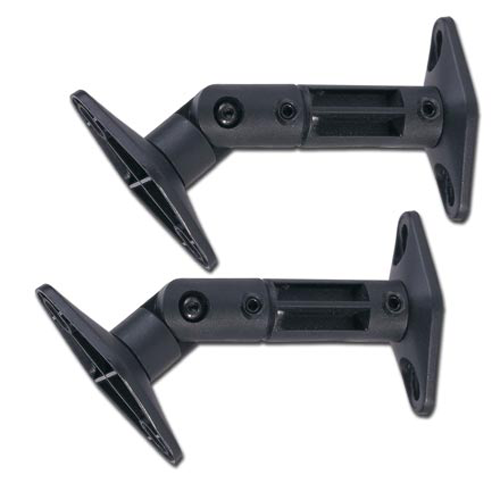 GlobalTone Speaker Wall or Ceiling Mounts for Satellite Home Theater Speakers Black Sold in Pair
