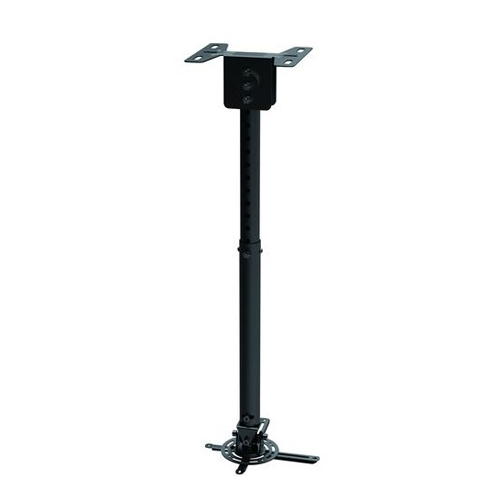"""GlobalTone Universal Ceiling Projector Mount Holds up to 44 lbs with 22.6""""-32.5"""" Extention Pole Black Steel"""