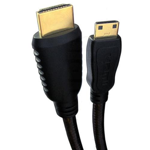 GlobalTone C?ble HDMI Haute Vitesse Noir HDMI M?le ? Mini M?le 6 Pieds