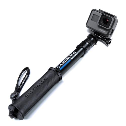 SANDMARC Pole - Compact Edition: 25-64 cm Telescoping Pole (Selfie Stick) for GoPro Hero 5, 4, 3, 2, and HD Cameras