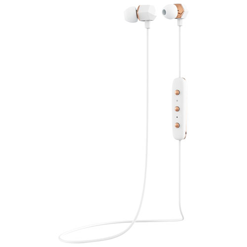 Happy Plugs Earpiece In-Ear Sound Isolating Bluetooth Headphones - White