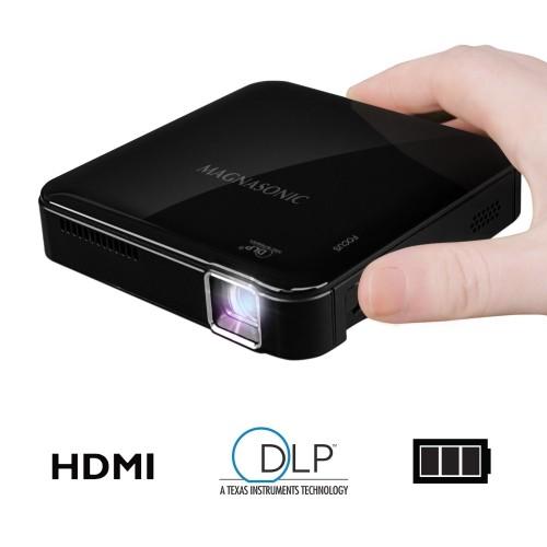 Magnasonic Mini Portable Pico Video Projector with HDMI, Battery, DLP, Vibrant 50 ANSI Lumen Brightness (PP71)