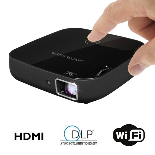 """Magnasonic Wi-Fi Mini Video Projector, HDMI, Wireless for Android, DLP, 100 Lumens, 80"""" display for Smartphones, Tablets"""