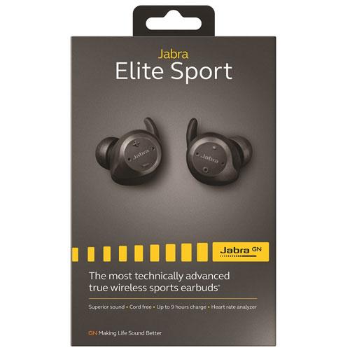 4094d7a32fe Jabra Elite Sport In-Ear Noise Cancelling Wireless Earbuds - Black   Best  Buy Canada