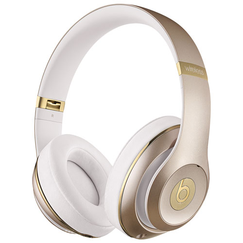Beats by Dr. Dre Studio Over-Ear Sound Isolating Bluetooth Headphones - Gold