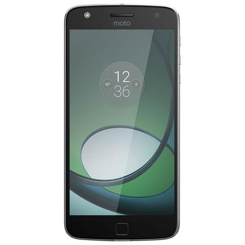 Téléphone intelligent Moto Z Play de 32 Go de Motorola offert par TELUS - Noir - Entente de 2 ans