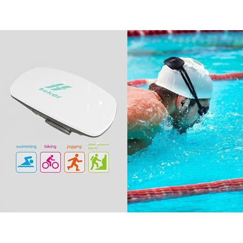 Beker Waterproof Sports Swimming Headset MP3 Plater Bone Conduction Technology (White)