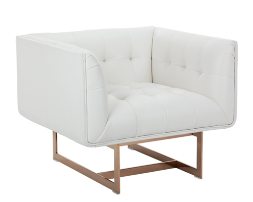 Streamlined Armchair in White