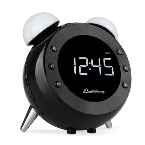 Electrohome Retro Alarm Clock Radio with Motion Activated Night Light and Snooze