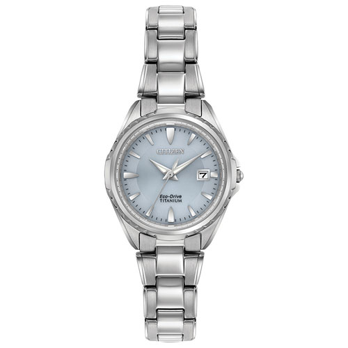 Citizen Super Titanium 28mm Women s Analog Solar Powered Dress Watch -  Blue Silver - Online Only 6d6f3fa1d