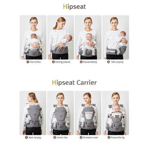 I Angel Eight Position Hipseat Carrier Josh Black