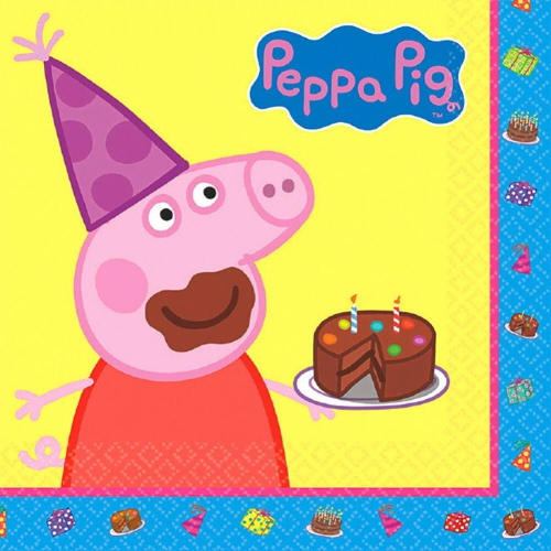 Peppa Pig Luncheon Napkins [16 in Package]