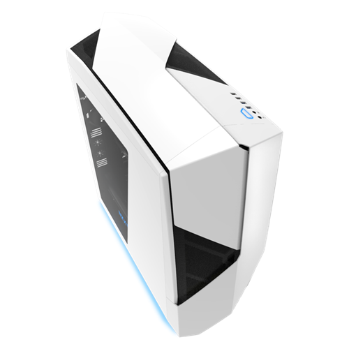 NZXT Noctis 450 Glossy White USB 3.0 Blue LED Mid-Tower Case