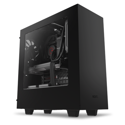 NZXT S340 Elite Matte Black USB 3.0 Tempered Glass Window VR Support Mid-Tower Case