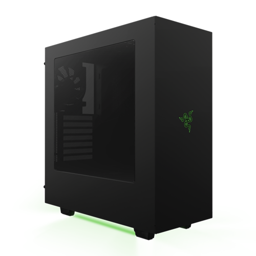 NZXT S340 Razer Special Edition USB 3.0 Matte Black Window Green LED ATX Mid Tower Case